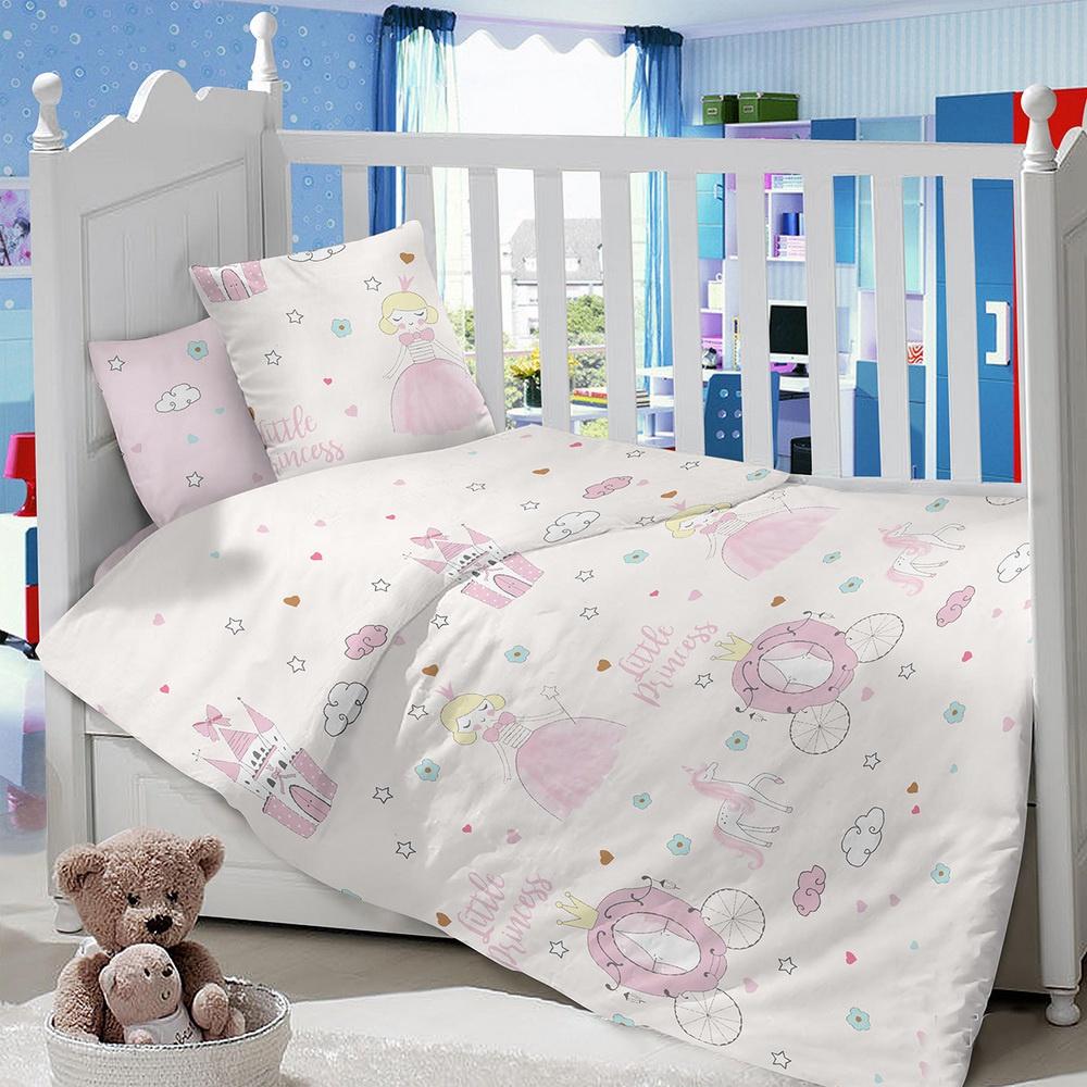 Комплект в кроватку LIMETIME Комплект в кроватку, простыня на резинке, LT1000-89, розовый