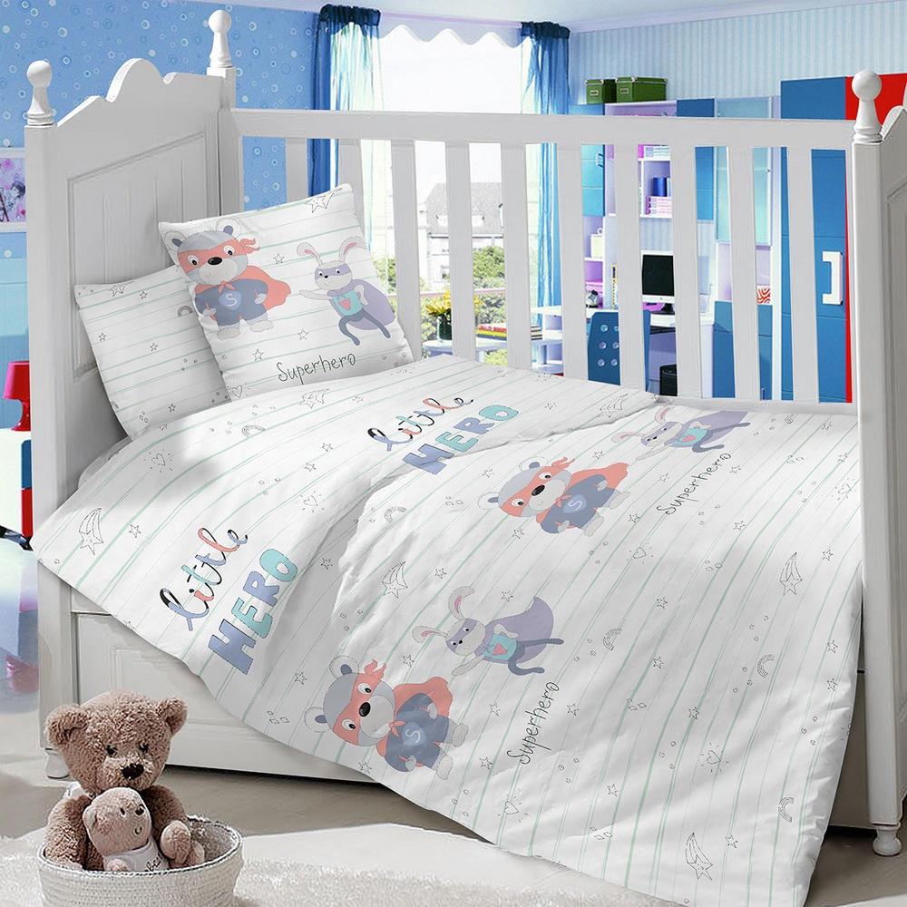Комплект в кроватку LIMETIME Комплект в кроватку, простыня на резинке, LT1000-83, белый