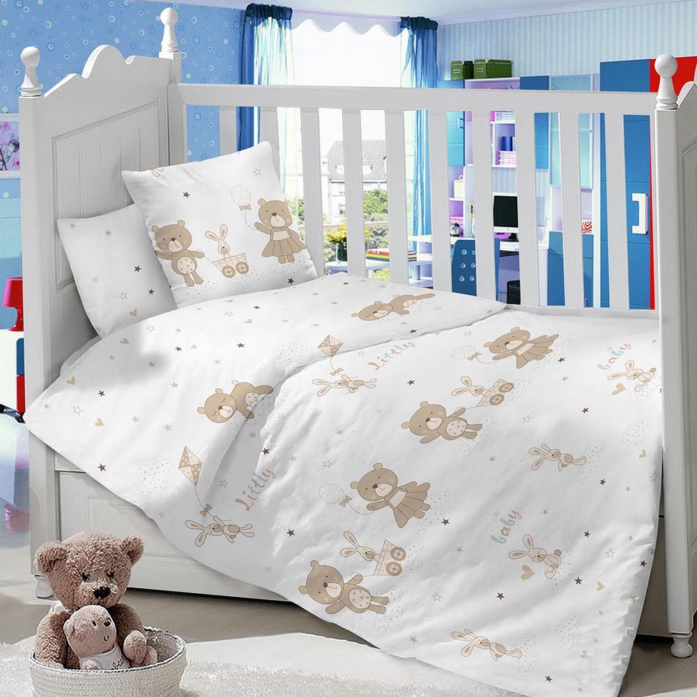 Комплект в кроватку LIMETIME Комплект в кроватку, простыня на резинке, LT1000-86, белый