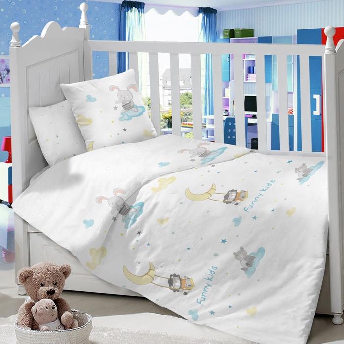 Комплект в кроватку LIMETIME Комплект в кроватку, простыня на резинке, LT1000-76, белый