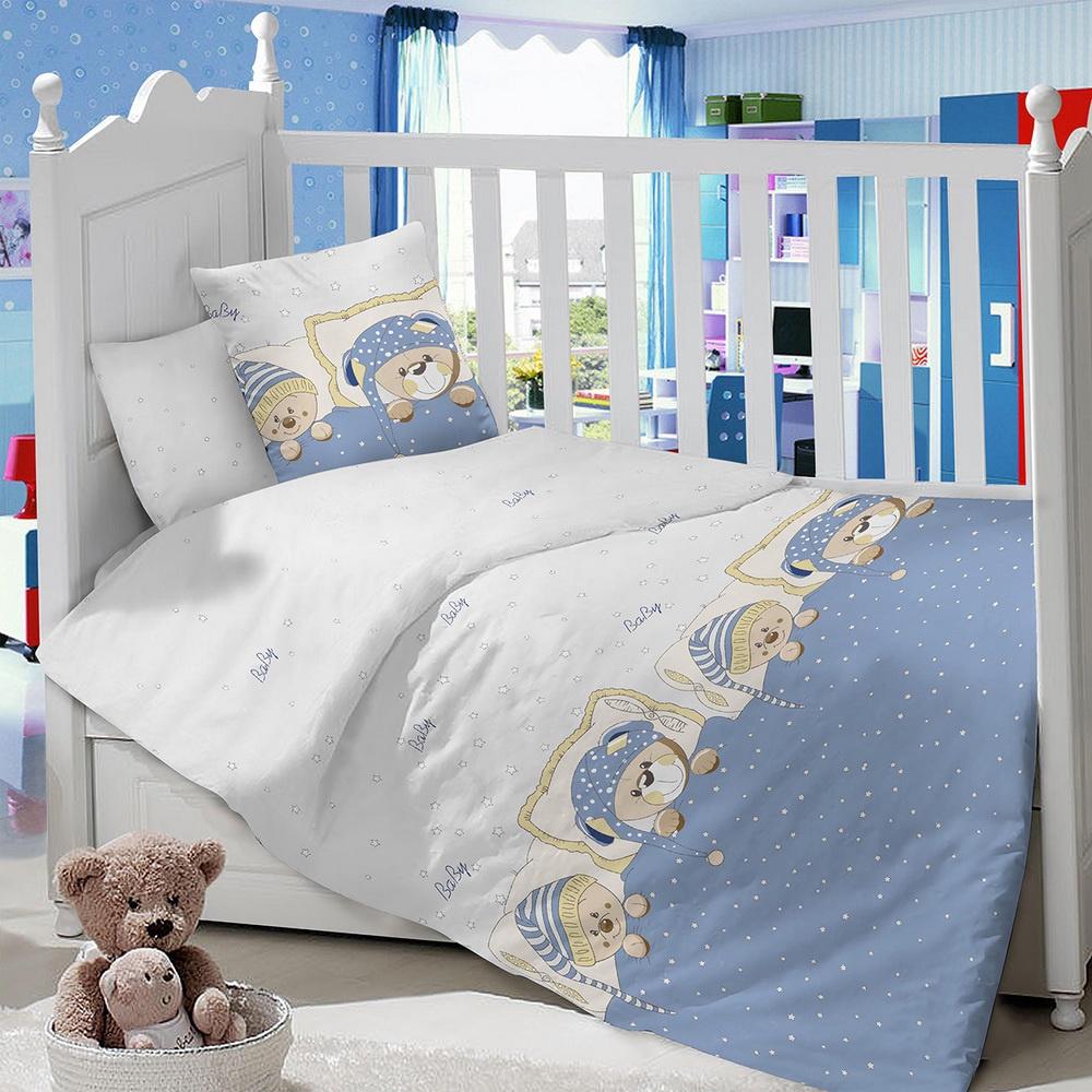 Комплект в кроватку LIMETIME Комплект в кроватку, простыня классическая, LT1100-90, голубой