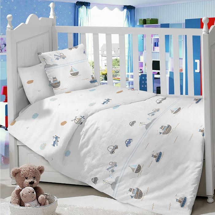 Комплект в кроватку LIMETIME Комплект в кроватку, простыня классическая, LT1100-73, белый