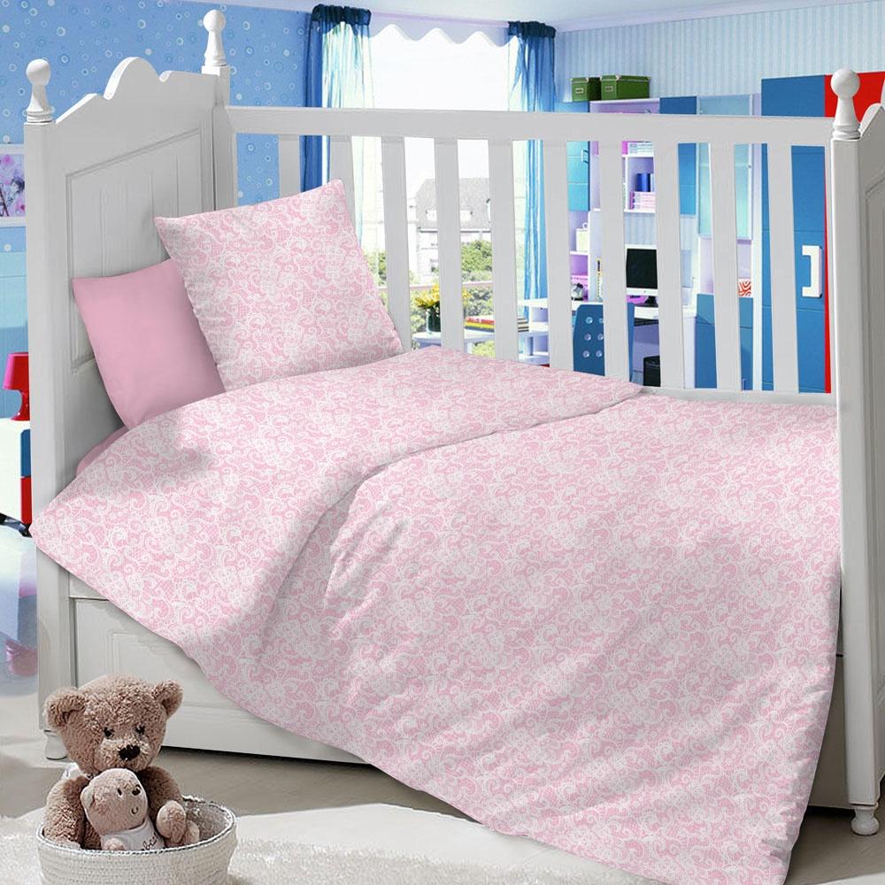 Комплект в кроватку LIMETIME Комплект в кроватку, простыня классическая, LT1100-36, розовый