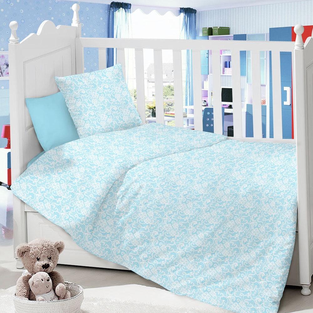 Комплект в кроватку LIMETIME Комплект в кроватку, простыня классическая, LT1100-37, голубой