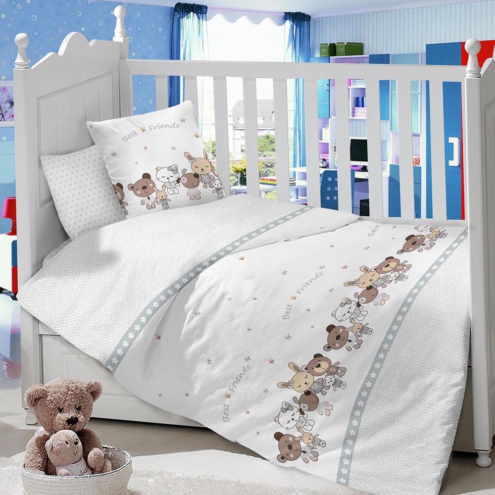 Комплект в кроватку LIMETIME Комплект в кроватку, простыня классическая, LT1100-24, белый