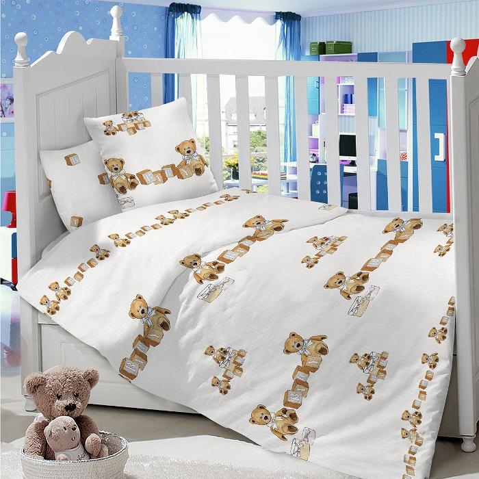 Комплект в кроватку LIMETIME Комплект в кроватку, простыня классическая, LT1100-79, коричневый