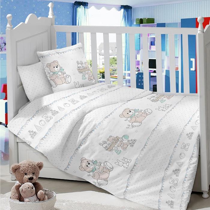 Комплект в кроватку LIMETIME Комплект в кроватку, простыня классическая, LT1100-77, белый
