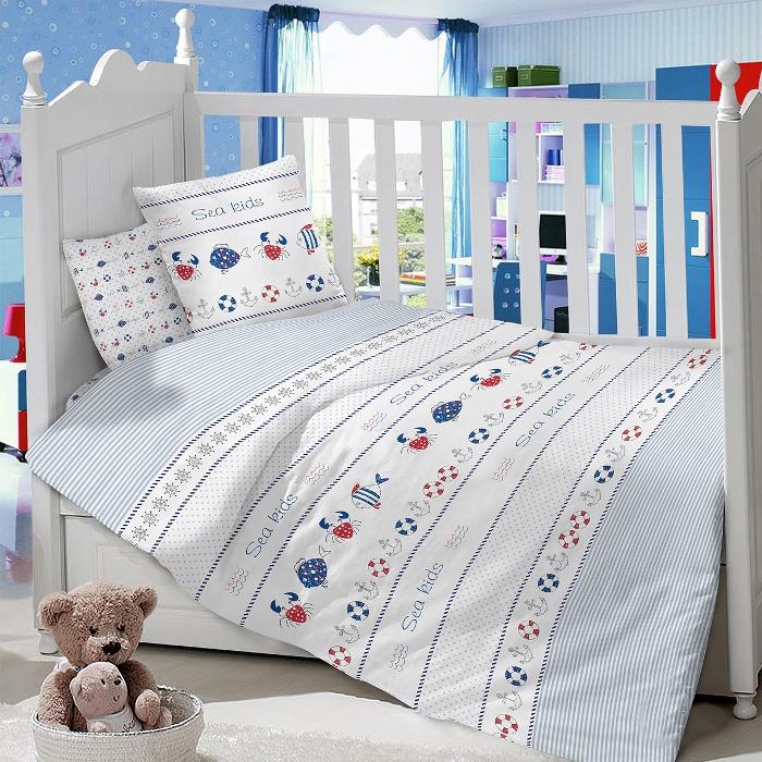 Комплект в кроватку LIMETIME Комплект в кроватку, простыня классическая, LT1100-52, голубой