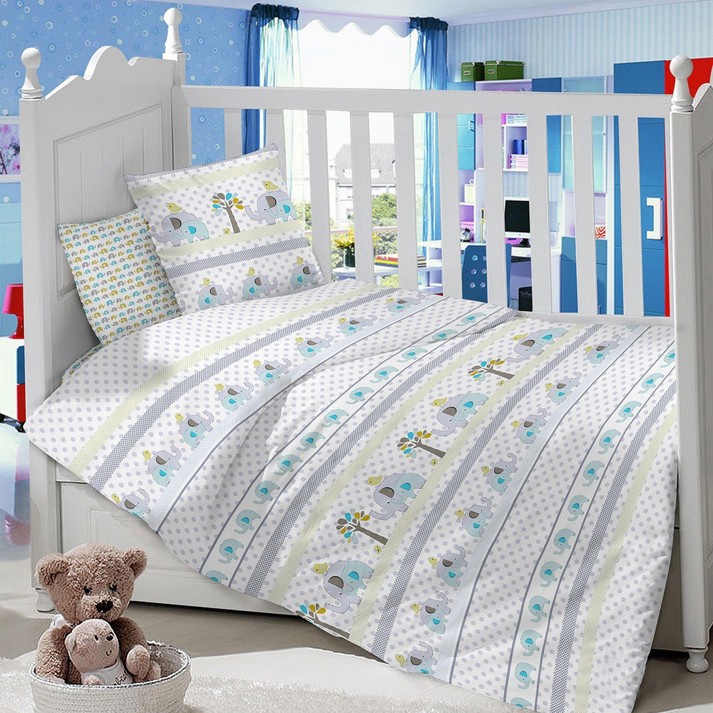 Комплект в кроватку LIMETIME Комплект в кроватку, простыня классическая, LT1100-88, серый