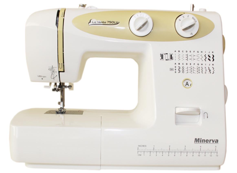 Швейная машина Minerva La Vento 750LV, белый, золотой