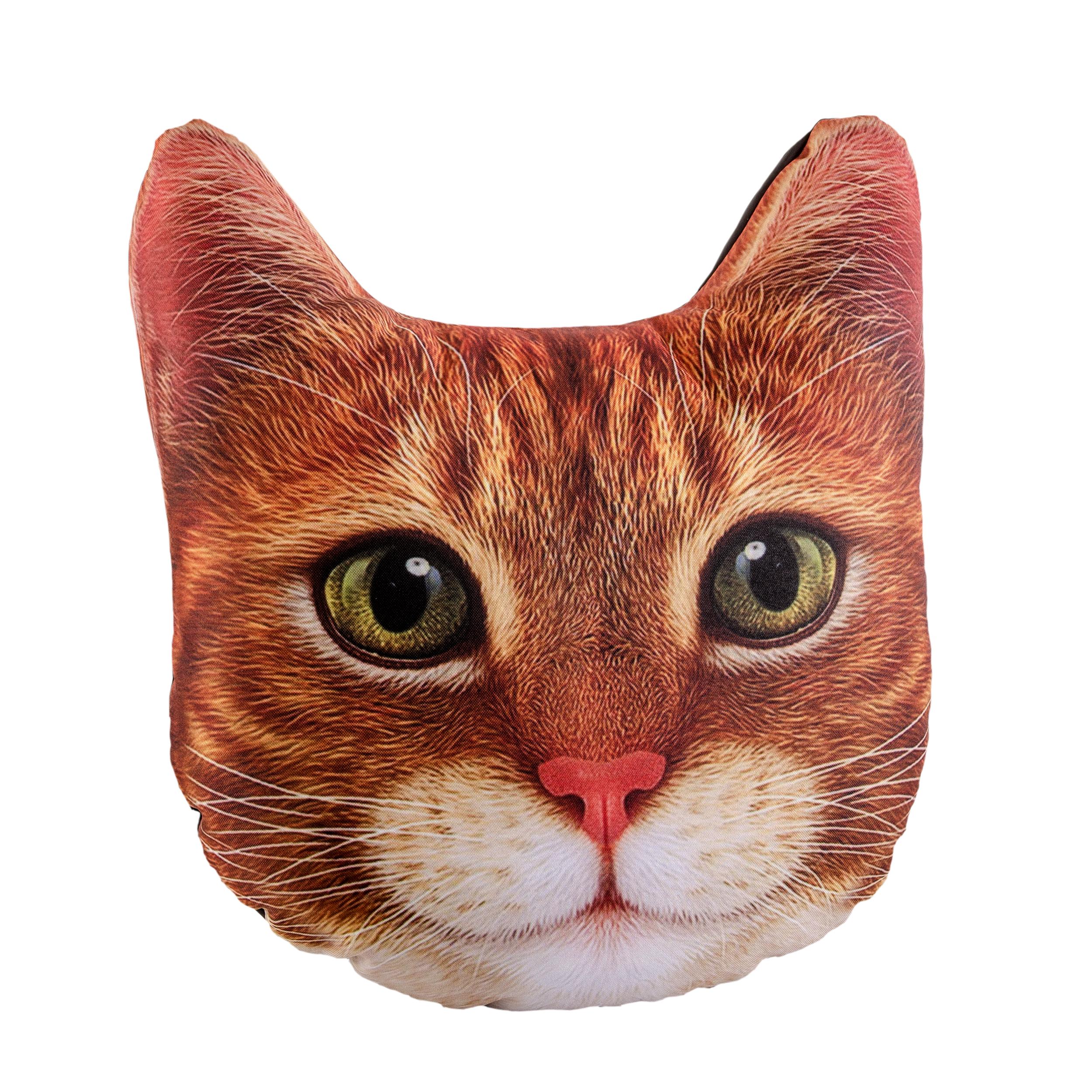 Подушка на сиденье GiftnHome сиденье, Auto-FACE Рыжий кот
