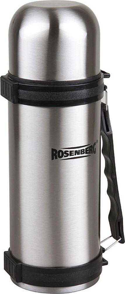 Термос Rosenberg RSS-420015, серебристый, 1 л термос rosenberg 1 8l rss 420102