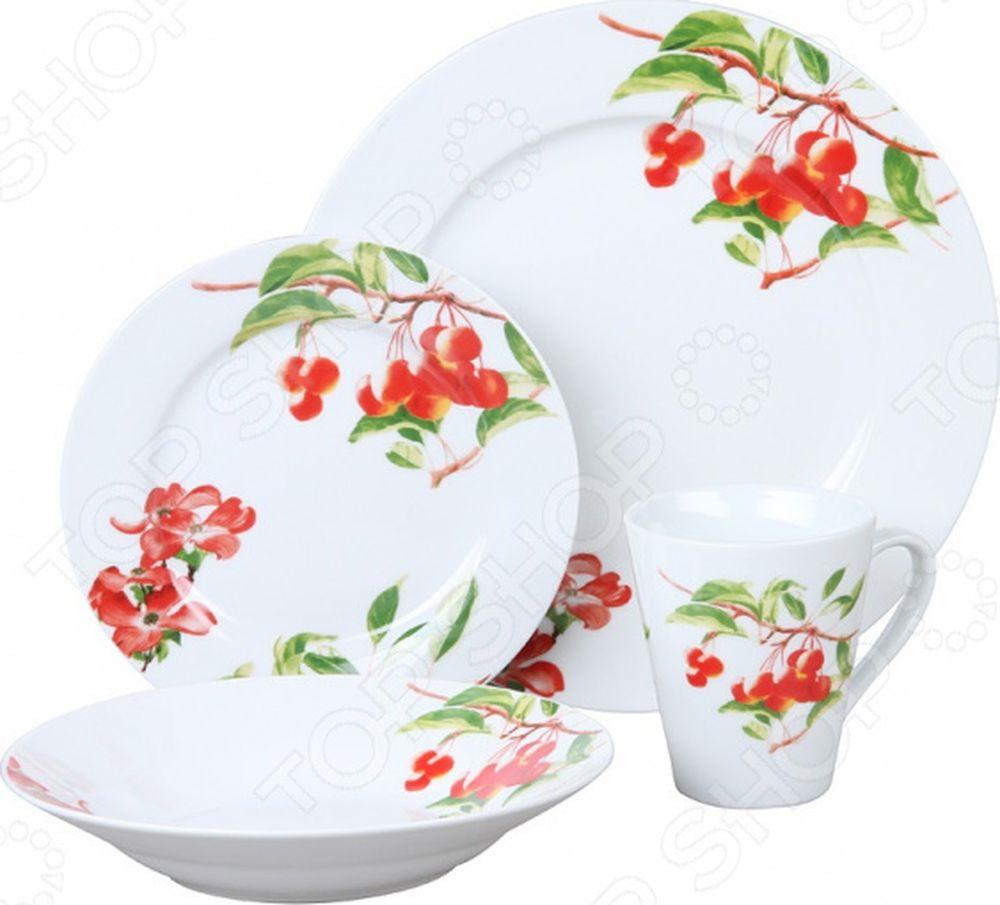 Набор столовой посуды Rosenberg RPO-100013-16, 77.858@26848, белый, 16 предметов набор столовой посуды rosenberg rgc 100107