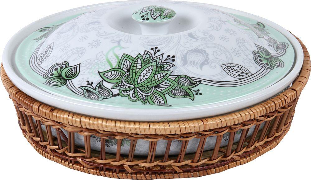 Блюдо Rosenberg RCE-035016, 77.858@27326, белый, с крышкой посуда сказка тарелка с крышкой на присоске