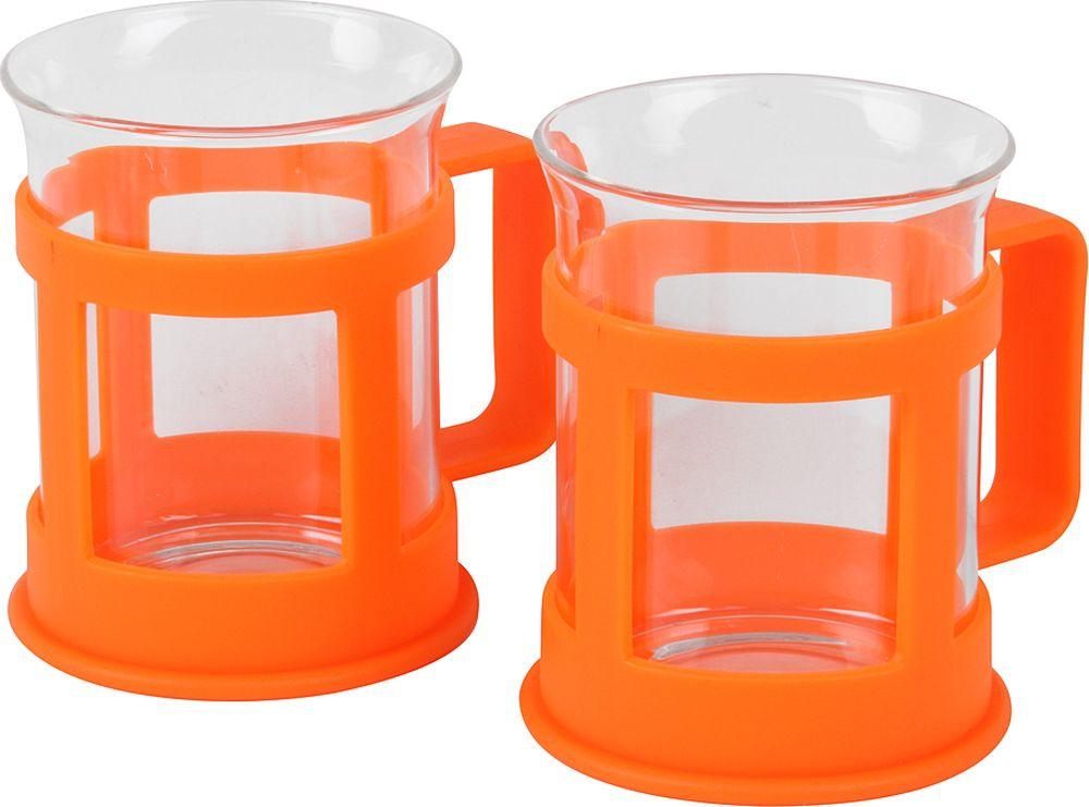 Набор стаканов Rosenberg RPL-795149, 77.858@27381, оранжевый, 200 мл, 2 шт rolsen rpl 200