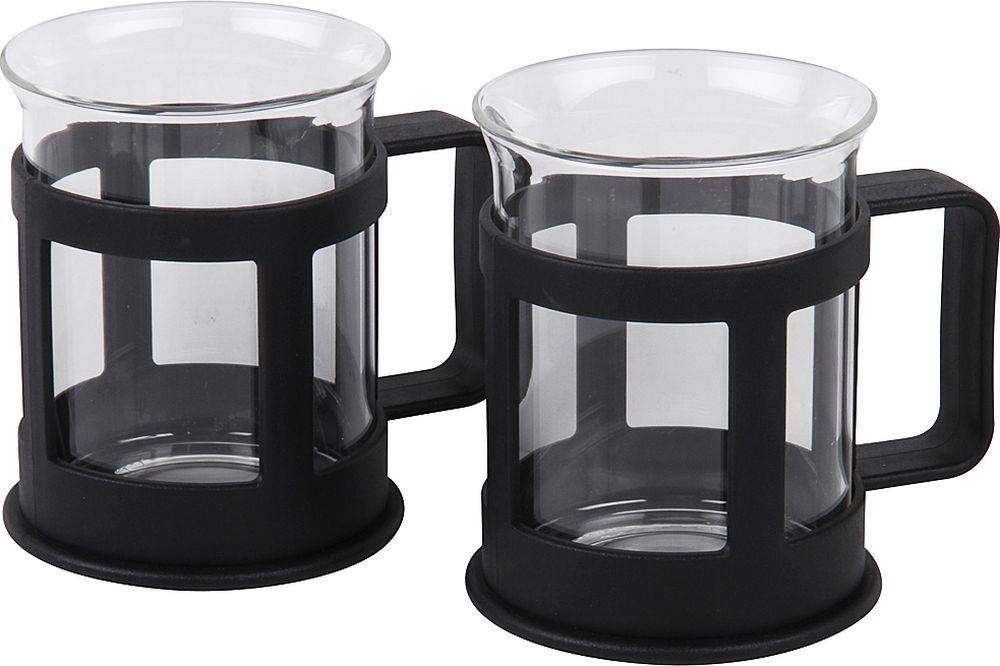 Набор стаканов Rosenberg RPL-795150, 77.858@27382, черный, 200 мл, 2 шт rolsen rpl 200