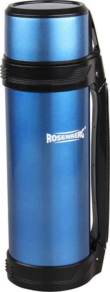 Термос Rosenberg RSS-420102, синий, 1,8 л термос rosenberg 1 8l rss 420102