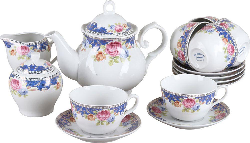 Набор чайный Rosenberg RPO-115041, 77.858@28122, белый, 15 предметов