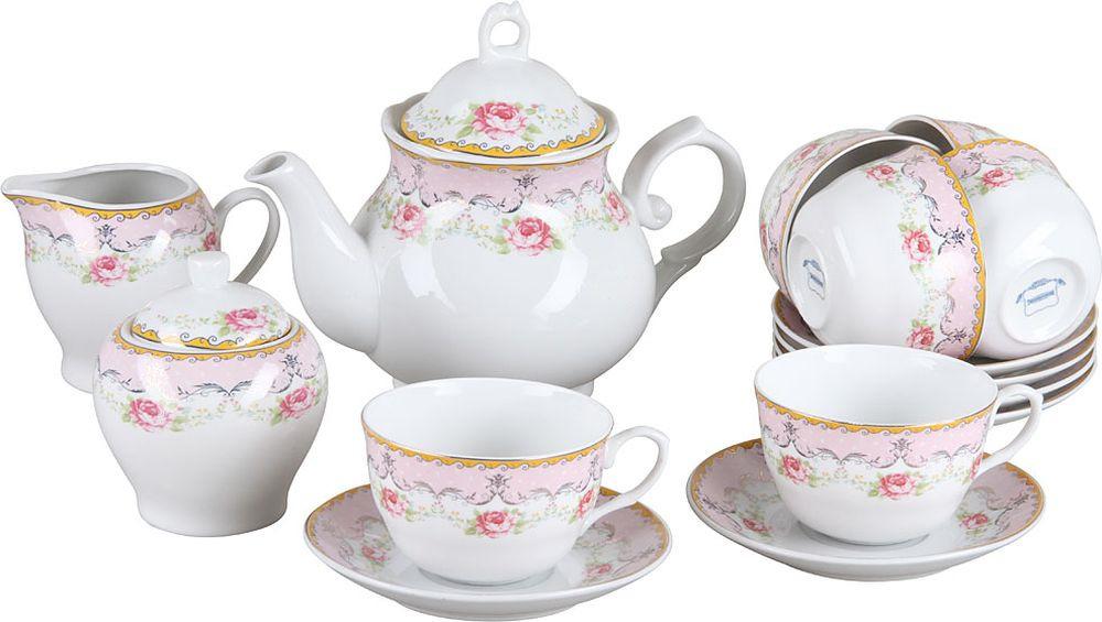 Набор чайный Rosenberg RPO-115043, 77.858@28124, белый, 15 предметов