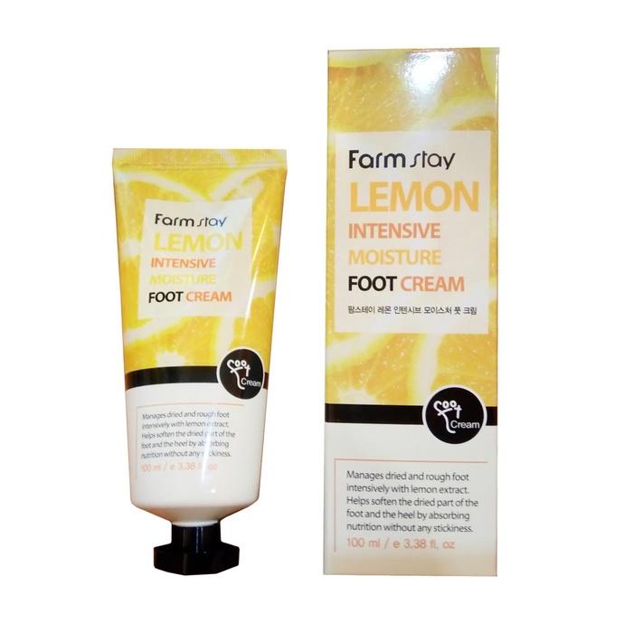 Крем для ухода за кожей FarmStay для ног, с экстрактом лимона, Lemon Intensive Moisture Foot Cream крем для ног софья с экстрактом пиявки 125мл