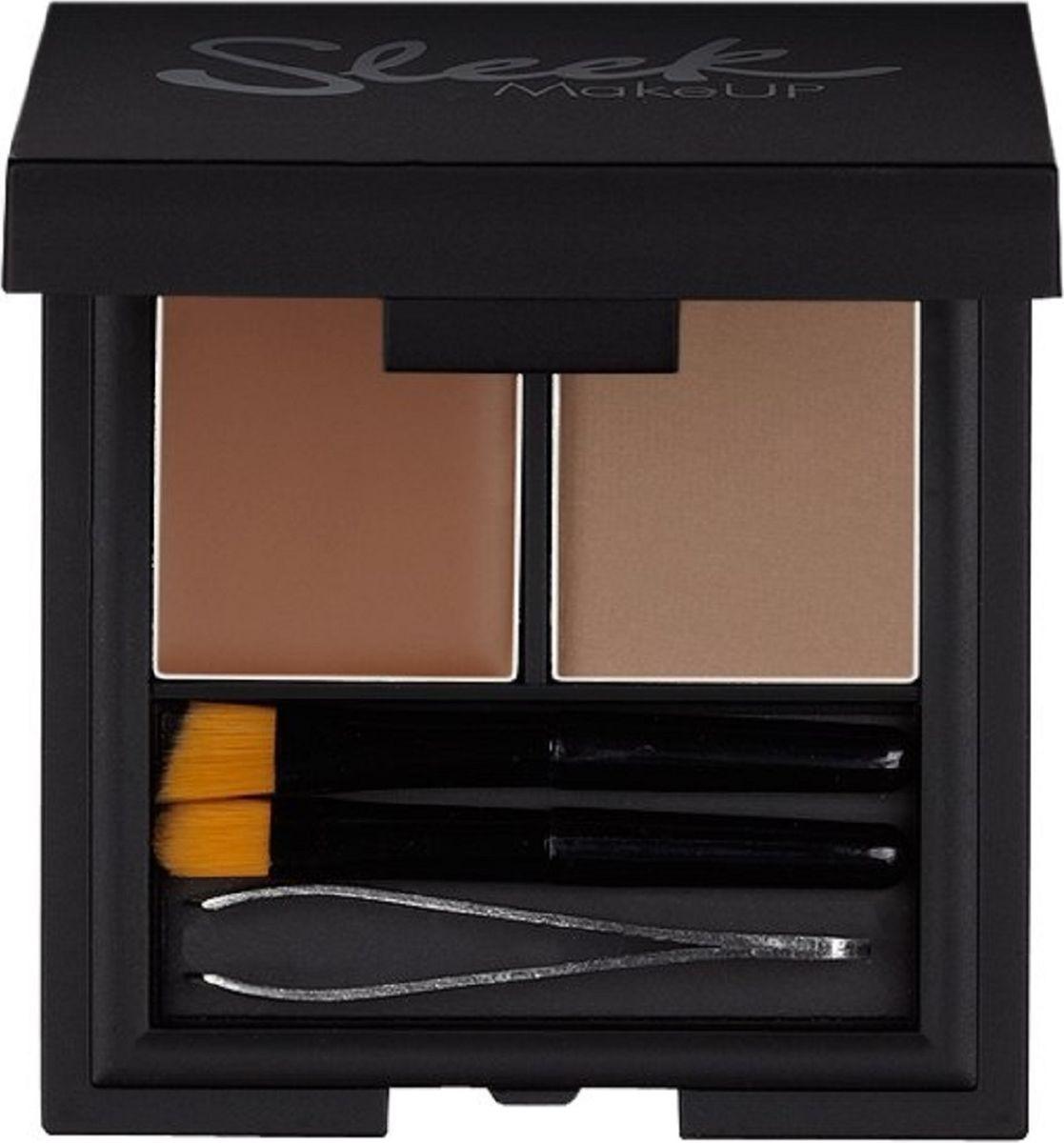 Набор для бровей Sleek MakeUP Brow kit Воск моделирующий и пудра для бровей Light 817, 59 г