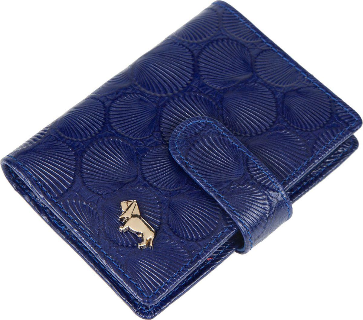 Визитница женская Labbra, L054-5589 blue, синий labbra визитница labbra l027 5589 d brown темно коричневый