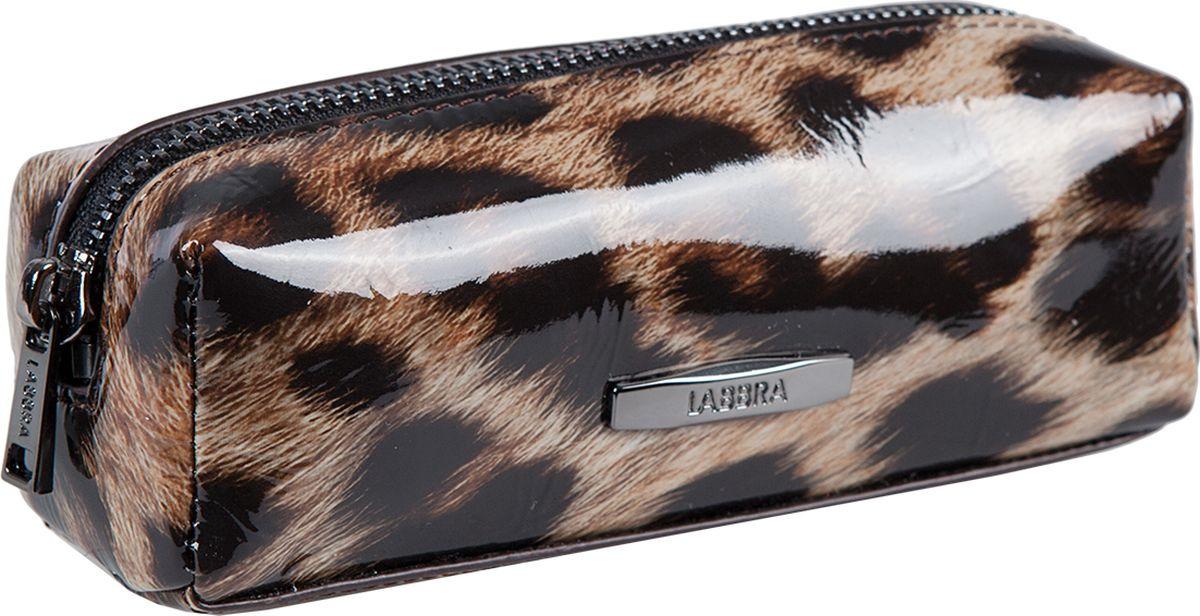 Ключница женская Labbra, L071-0025 multicolor-brown, мультиколор, коричневыйL071-0025 multicolor-brownКлючница торговой марки Labbra из натуральной кожи. Модель закрывается на металлическую молнию. Внутри - кольцо для ключей.