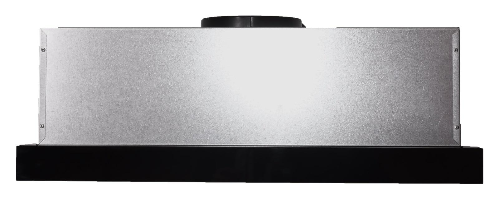 Вытяжка Exiteq EX-1076 black glass, серебристый