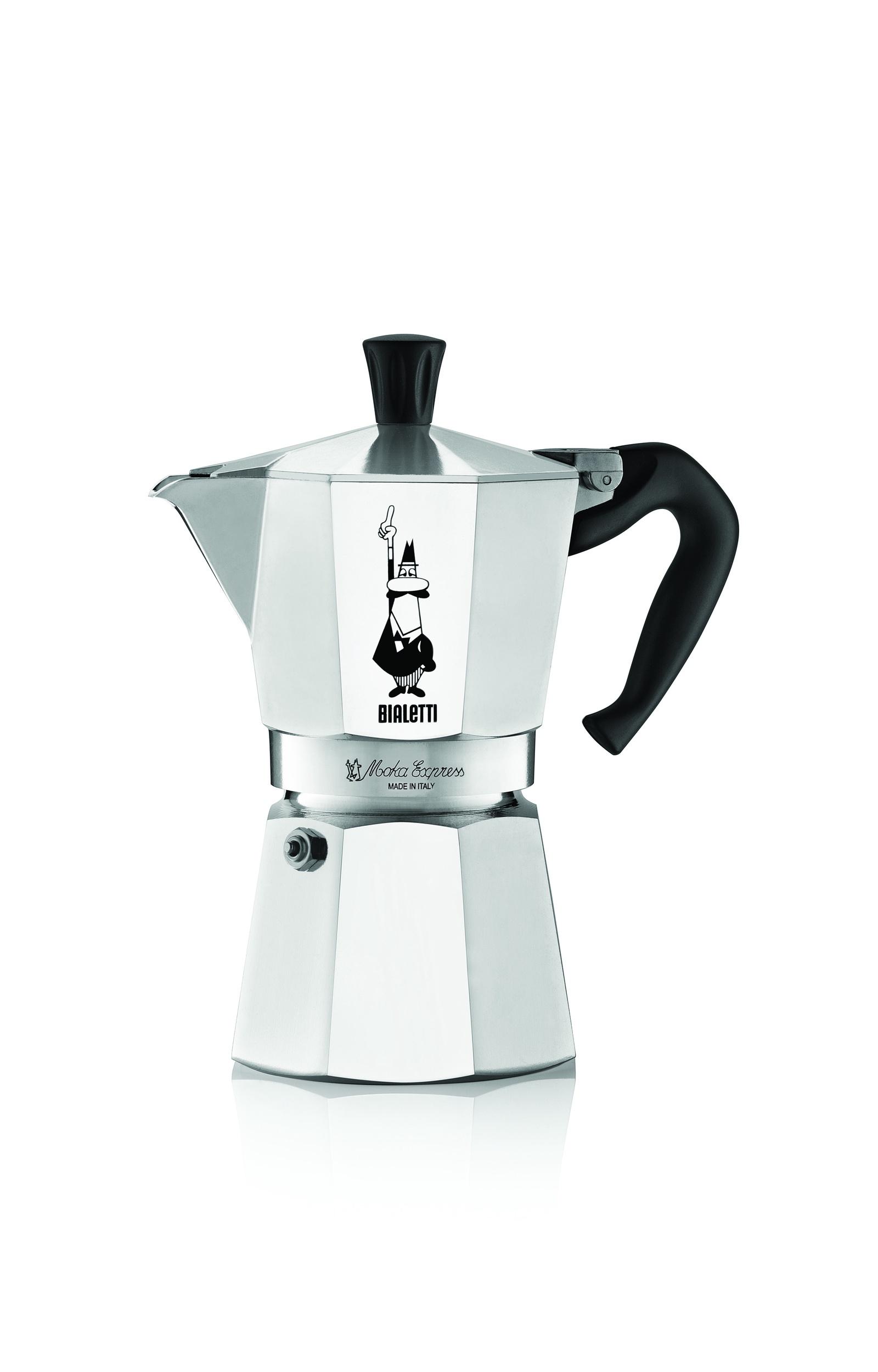 Гейзерная кофеварка Bialetti Moka Express, на 4 порции, 200 мл, Алюминий, Бакелит кофеварка гейзерная bialetti moka induzione 3 порции сталь 4922