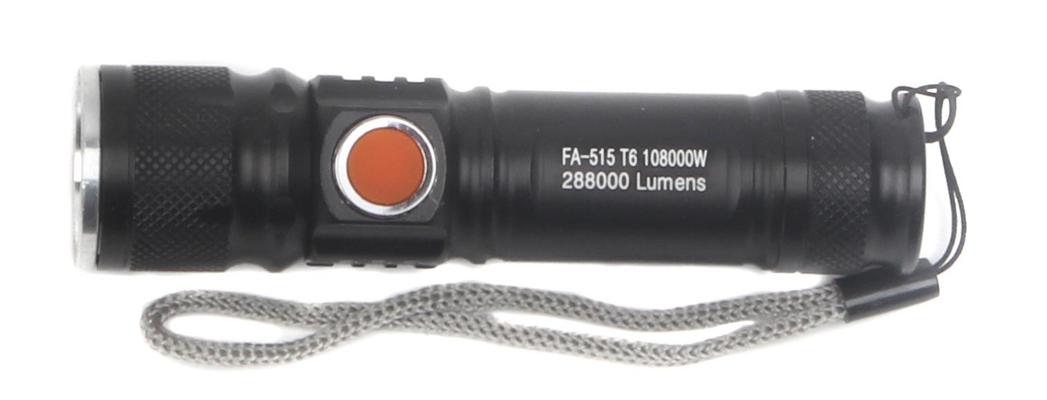 Ручной фонарь Police FA-515 T6, 4605180004686 usb перезаряжаемый высокой яркости ударопрочный фонарик дальнего света конвой sos факел мощный самозащита 18650 батареи