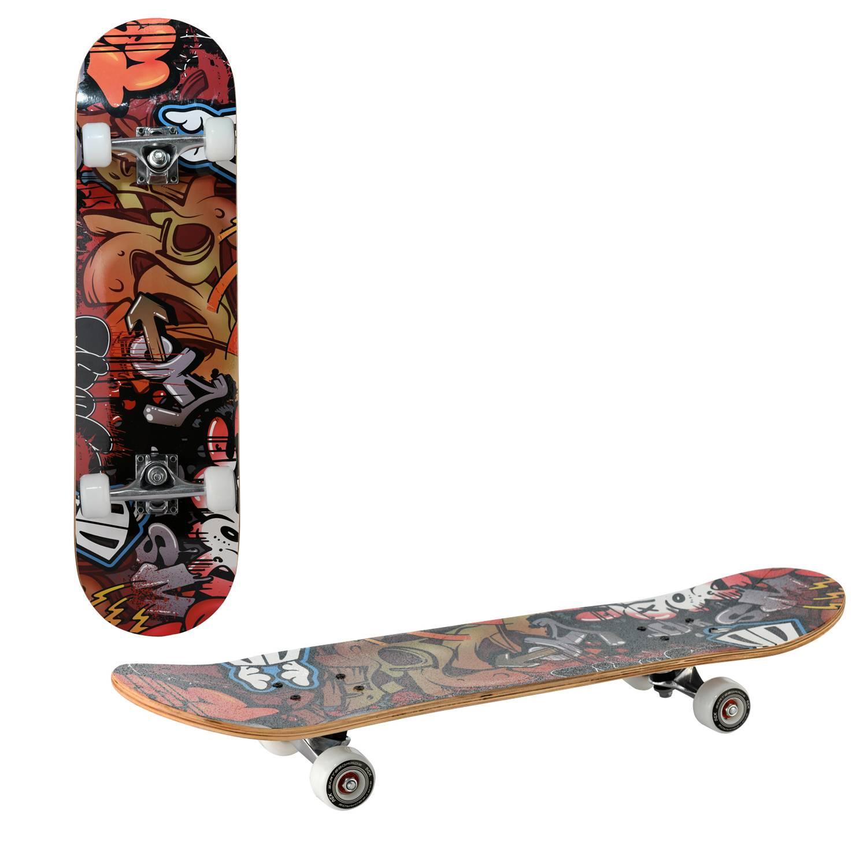 Скейтборд RGX LG DBL 351, LG DBL 351, красный, оранжевый, черный скейтборд 8 колес
