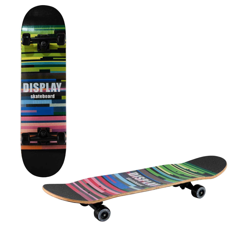 Скейтборд RGX MG DBL 462, MG DBL 462, зеленый, синий, черный скейтборд 8 колес