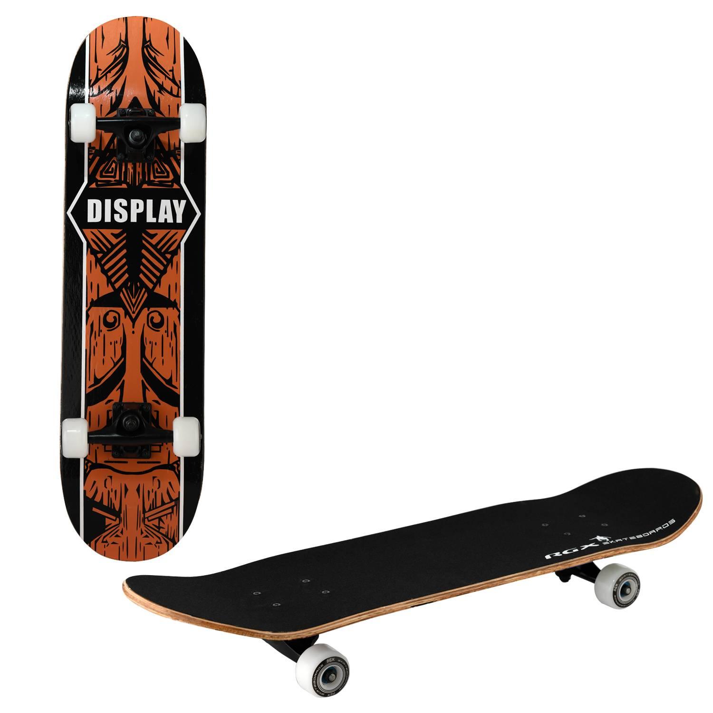 Скейтборд RGX MG 417, MG 417, оранжевый, черный скейтборд 8 колес