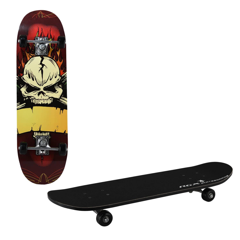 Скейтборд RGX STANDART 7, STANDART 7, черный, желтый скейтборд 8 колес