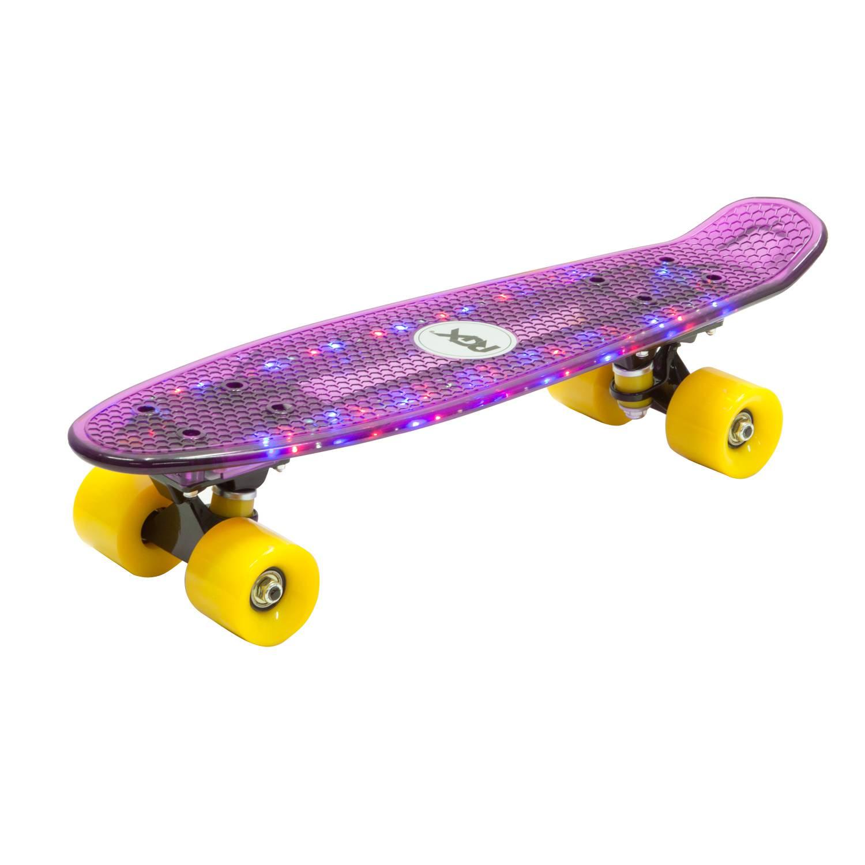 Круизер RGX PNB-06, PNB-06-02, фиолетовый скейт мини круизер quiksilver lanai citron fluro yellow 6 5 x 26 66 см