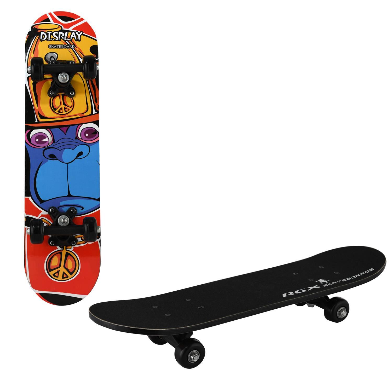 Скейтборд RGX MIDI 6, MIDI 6, желтый, синий, красный скейтборд 8 колес