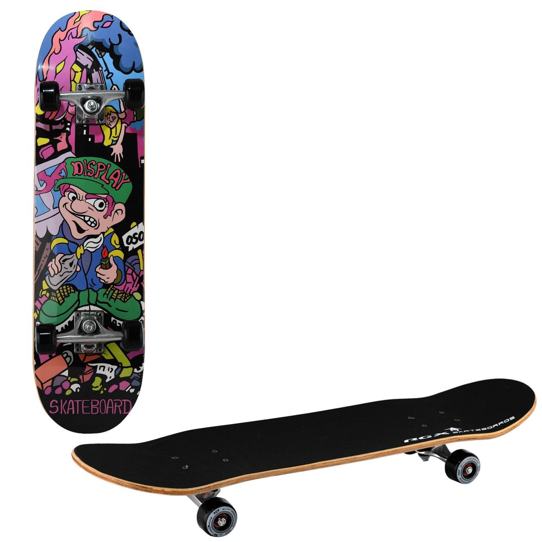 Скейтборд RGX LG 301, LG 301, черный, зеленый скейтборд 8 колес