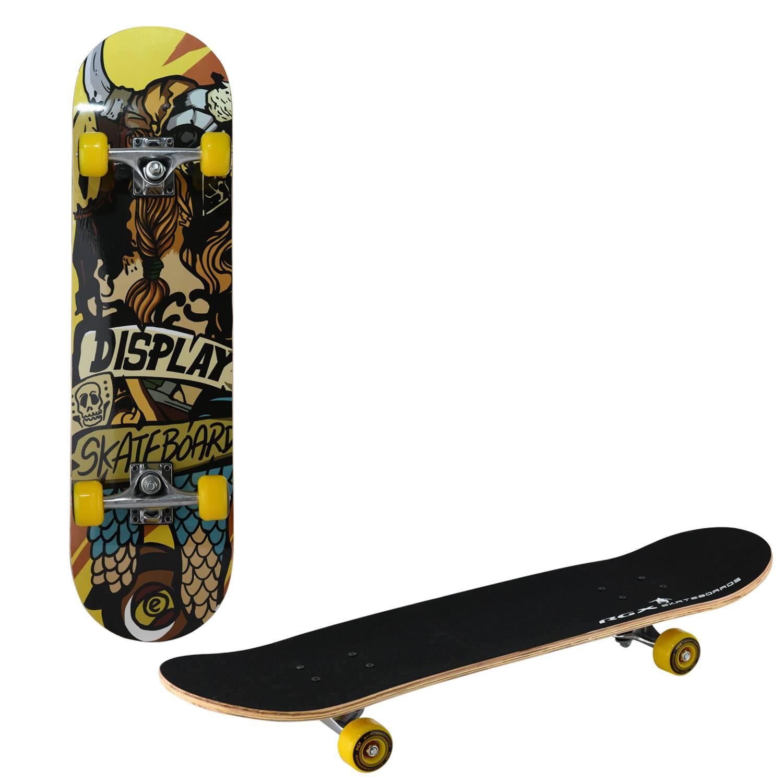 Скейтборд RGX LG 302, LG 302, желтый, черный скейтборд 8 колес