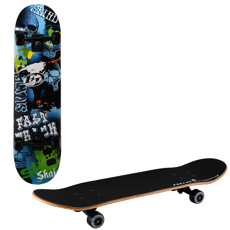 Скейтборд RGX MG 415, MG 415, синий, зеленый, черный скейтборд 8 колес