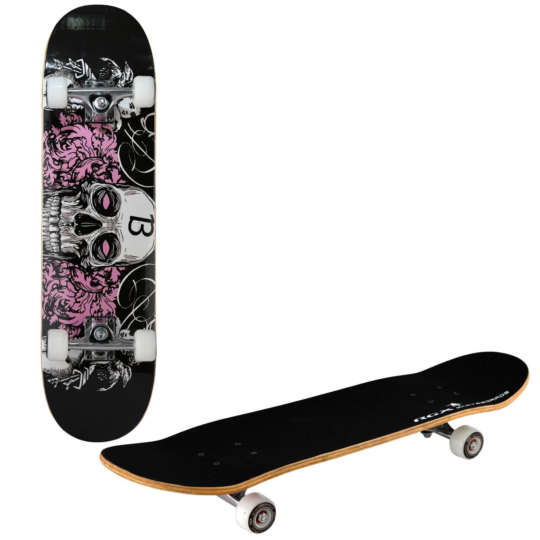 Скейтборд RGX LG 307, LG 307, черный, розовый скейтборд 8 колес