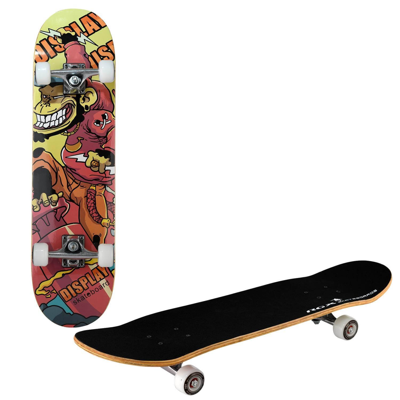 Скейтборд RGX LG 300, LG 300, оранжевый, желтый, черный скейтборд 8 колес