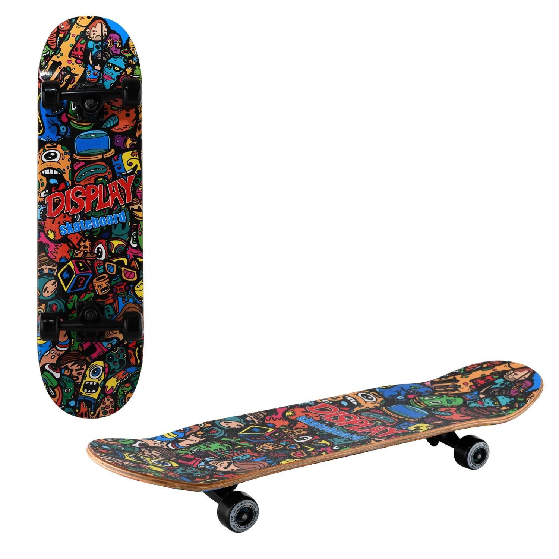 Скейтборд RGX MG DBL 460, MG DBL 460, черный, красный скейтборд 8 колес