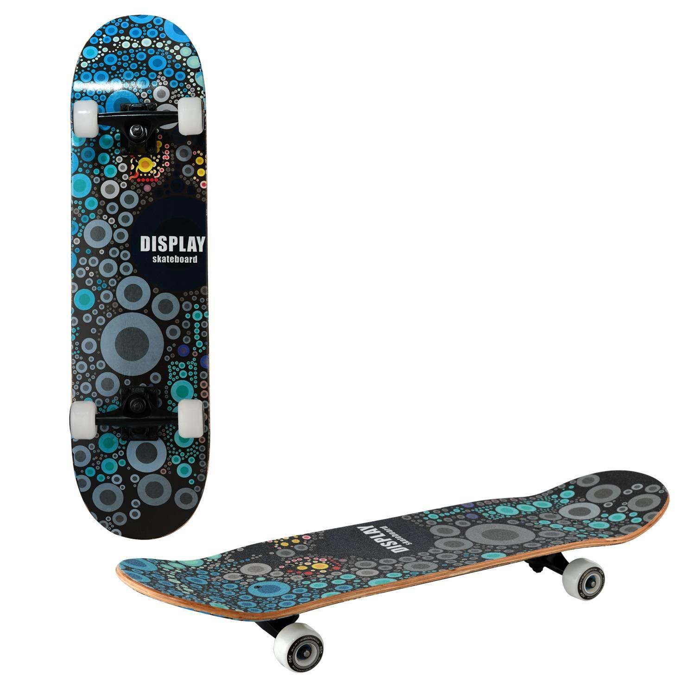 Скейтборд RGX MG DBL 461, MG DBL 461, черный, синий скейтборд 8 колес