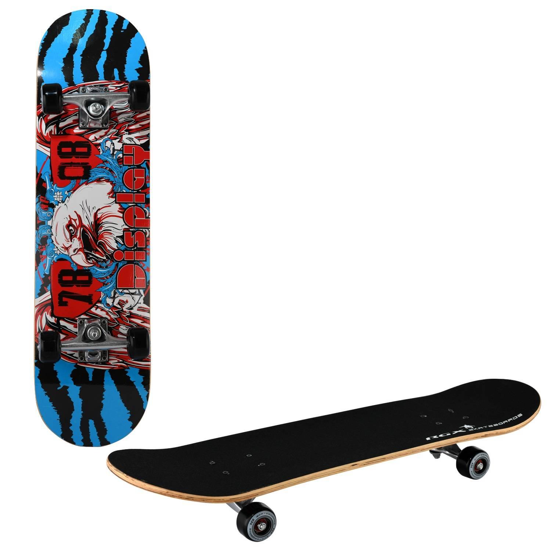 Скейтборд RGX LG 303, LG 303, синий, красный скейтборд 8 колес