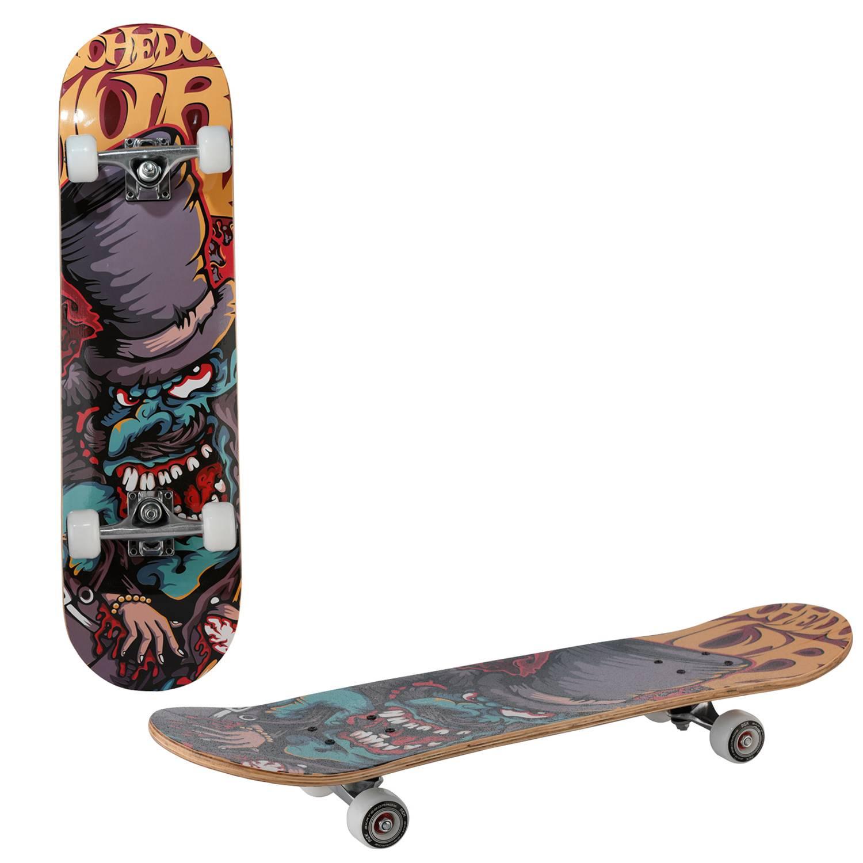 Скейтборд RGX LG DBL 352, LG DBL 352, черный, оранжевый скейтборд 8 колес