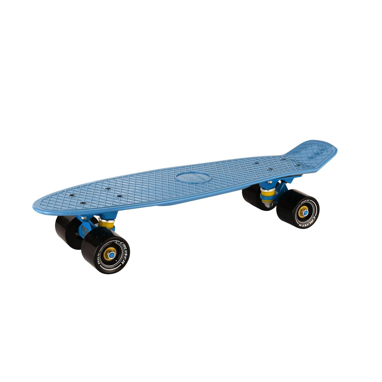 """Круизер RGX PNB-14, PNB-14-03, синийPNB-14-03Мини-круизер - это мини скейтборд, предназначенный для перемещения по городу. Размер деки: 22 x6"""" (56x15 см.) Выполнена из высококачественного разноцветного полипропилена. Подвеска: 3,25"""" алюминий Колеса: PU 60x45 мм. Жесткость колес: 78А Подшипник: ABEC 7 RS Амортизатор: PU 85A Максимальная нагрузка: 100 кг. Упаковка: термоусадочная пленка. Страна производства: Китай."""