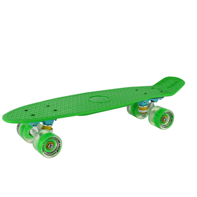 Круизер RGX PNB-01GW, PNB-01GW-02, зеленый скейтборд 8 колес