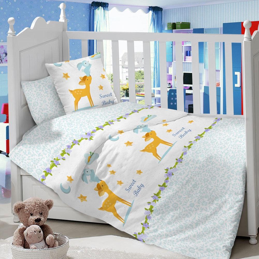 Комплект в кроватку LIMETIME Комплект в кроватку, простыня классическая, LT1100-33, голубой