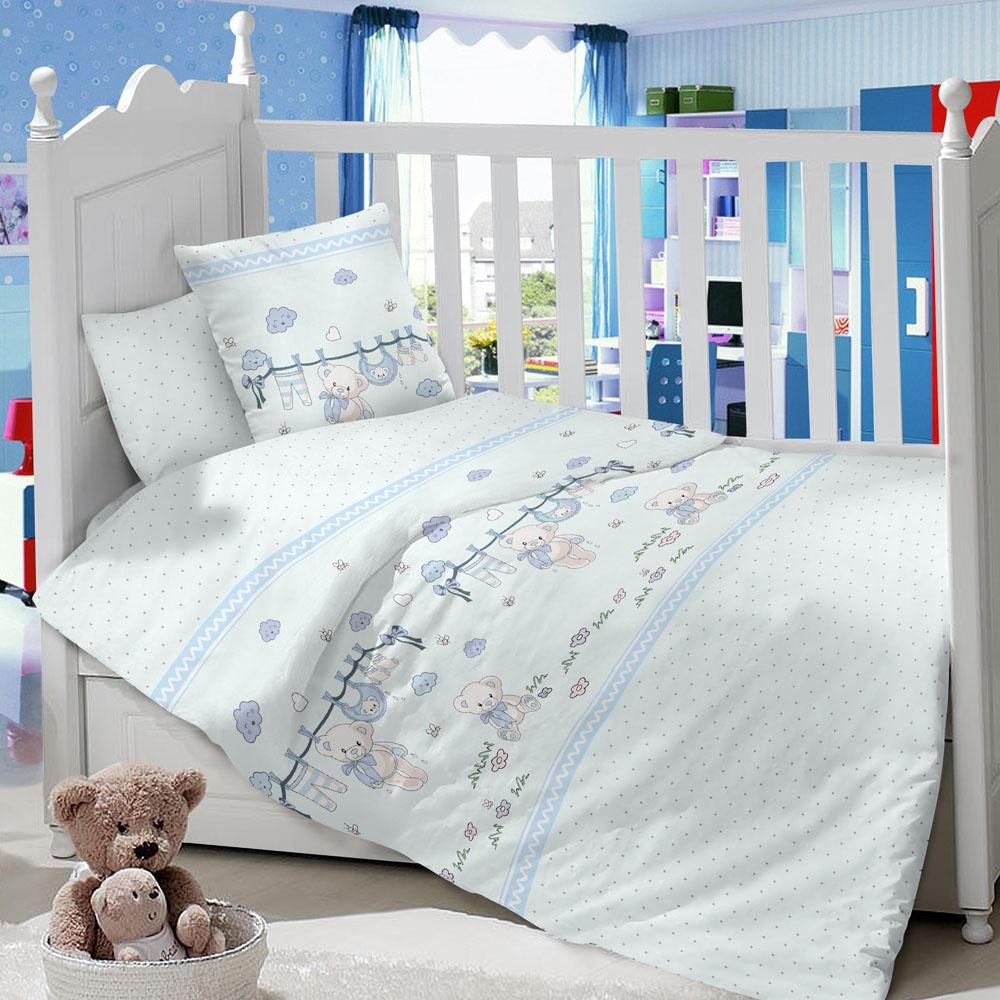 Комплект в кроватку LIMETIME Комплект в кроватку, простыня классическая, LT1100-27, голубой