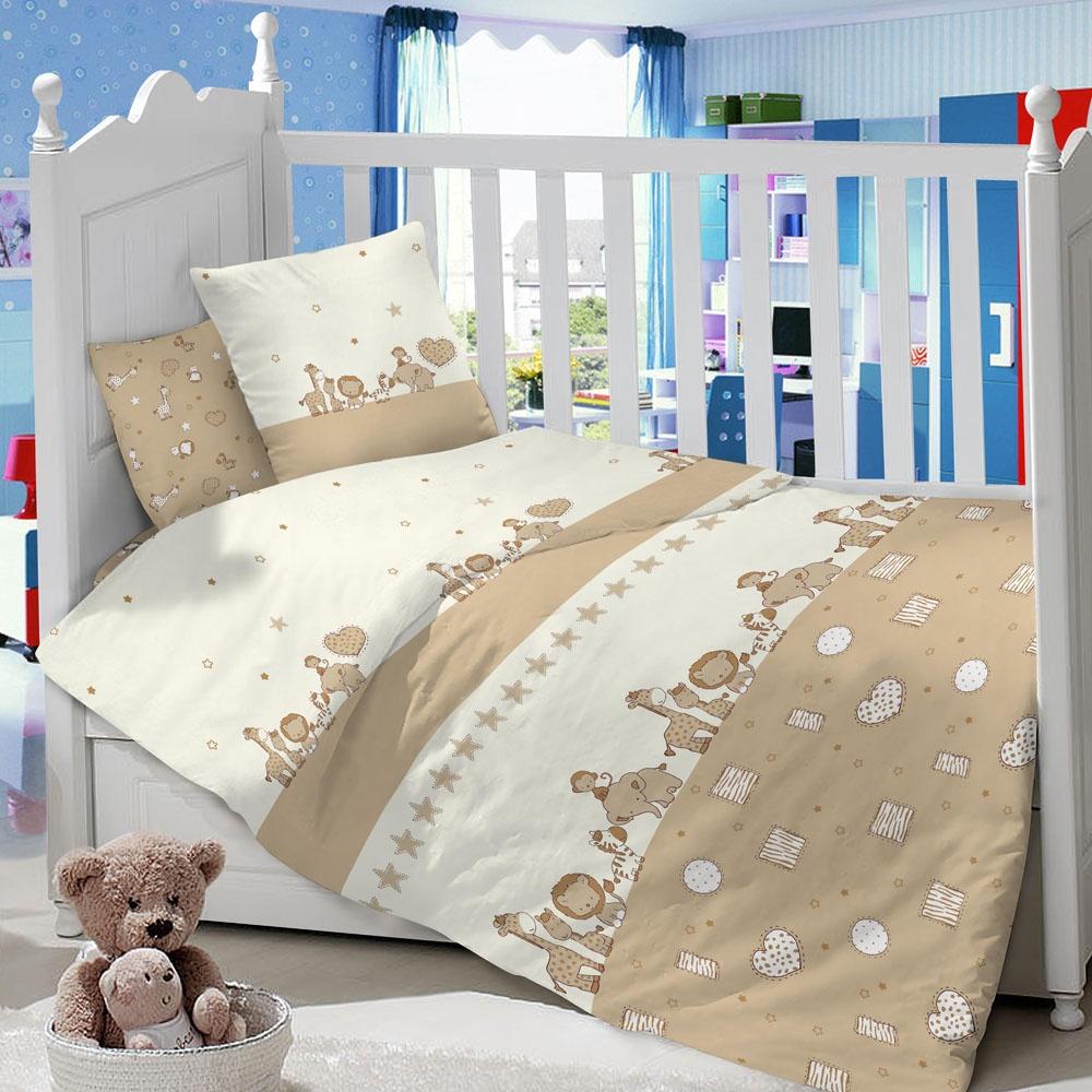 Комплект в кроватку LIMETIME Комплект в кроватку, простыня классическая, LT1100-65, светло-коричневый
